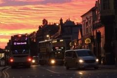 Sunset near Shandwick Place